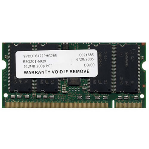 Gigaram  512MB 200p PC2100 CL2.5 8c 64x8 DDR SODIMM