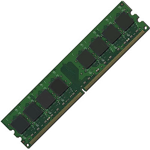 256MB 240p PC2-4200 CL4 8c 32x8 DDR2-533 DIMM T007