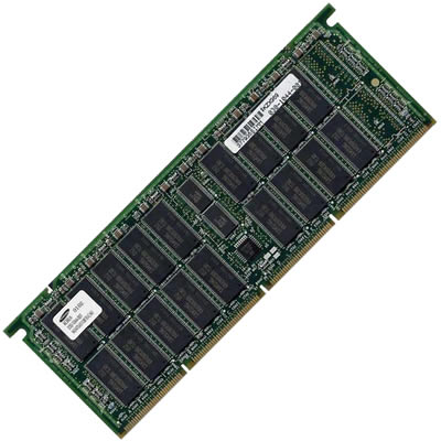 Gigaram  1GB 294p PC1600 CL2 40c 64x4 Registered ECC DDR DIMM 1/2 kit HU-F-MEM2GB
