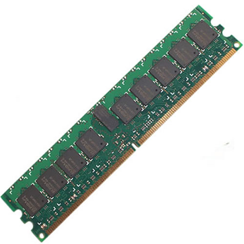 Qimonda/Swissbit SEP12872E2BB2Q2-37R 1GB 240p PC2-4200 CL4 18c 64x8 DDR2-533 2Rx8 1.8V ECC RDIMM NLM