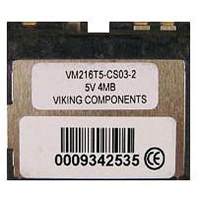 Viking VM216C100-CS02-3 4MB 60p 3.3/5V Mini Flash Card Cisco MEM800-4F=