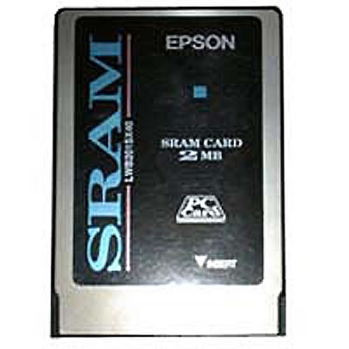 Gigaram  2MB PCMCIA Type 1 SRAM 5V Card with BR2325 battery