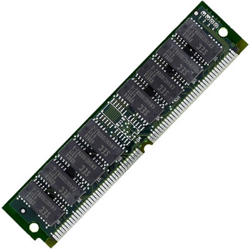 Micron MT12D436DM-6 4MB 72p 60ns 12c 1x4 Parity FPM SIMM