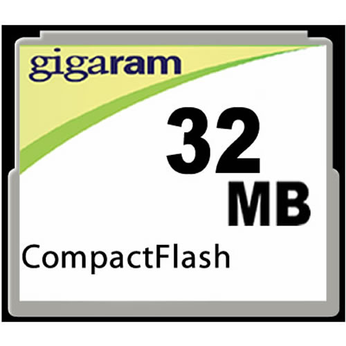 Gigaram  32MB CompactFlash Card