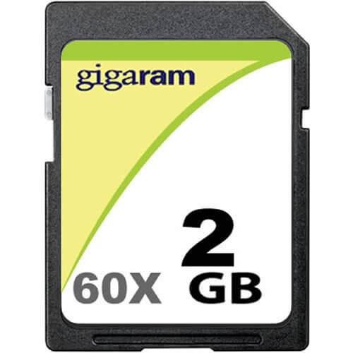 Gigaram BQP 2GB SD 60x Secure Digital Card