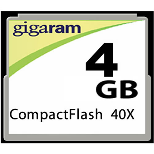 Gigaram  4GB 50p CF CompactFlash Card 60x