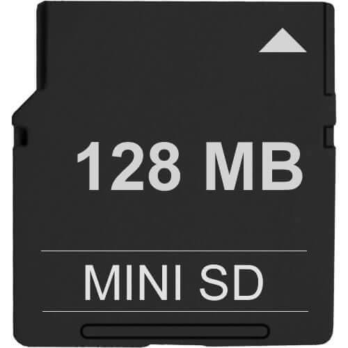 Gigaram  128MB 11P MiniSD Mini Secure Digital Card