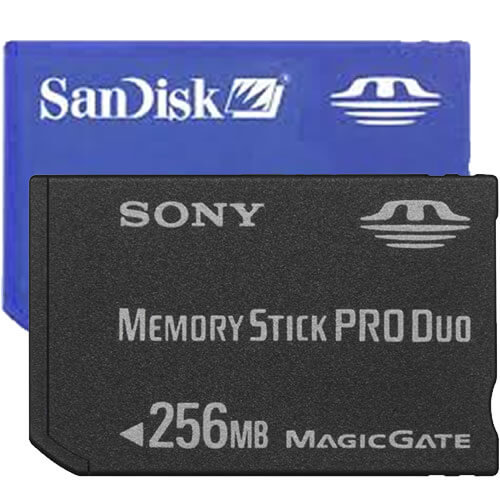 SanDisk SDMSPD-256 BSG 256MB 10p Memory Stick Pro Duo Light  Blue w/o adapter Bulk