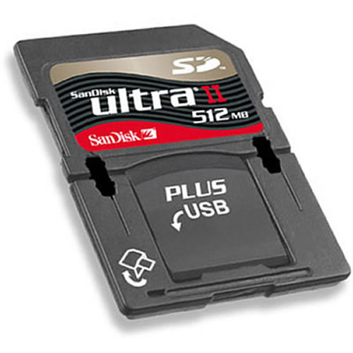 Gigaram  512MB SD Secure Digital Card with USB 2.0