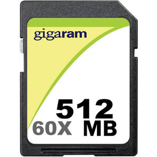 Gigaram BVF 512B SD Secure Digital 150X