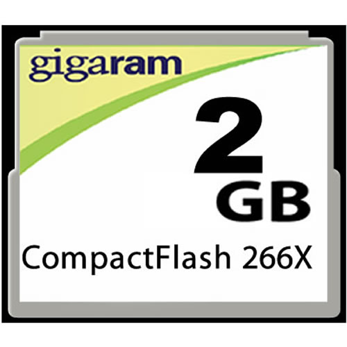 Gigaram  2GB 50p CF CompactFlash Card 266x
