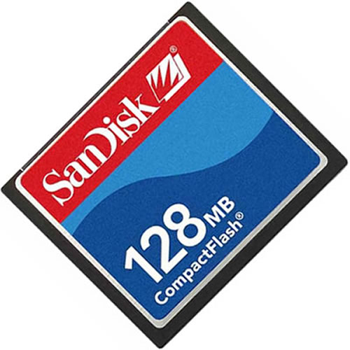 SanDisk SDCFJ-128 128MB CompactFlash Card Rainbow Label RFB