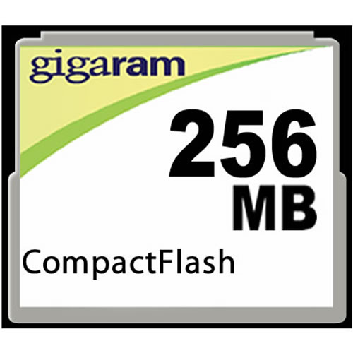 Gigaram  256MB 50p CF CompactFlash Card
