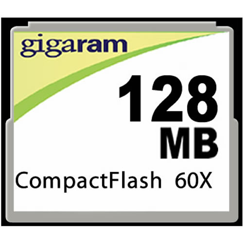 Gigaram  128MB 50p CF CompactFlash Card 80x Industrial Transcend