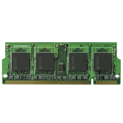 Maj/3rd 256S8D1616-27LP 256MB 200p PC2700 CL2.5 8c 16x16 DDR SODIMM 0.9in