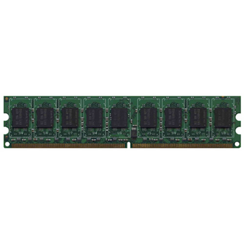 Micron MT18HTF25672AY-800E1 2GB 240p PC2-6400 CL6 18c 128x8 DDR2-800 2Rx8 1.8V ECC UDIMM  W/hp Label