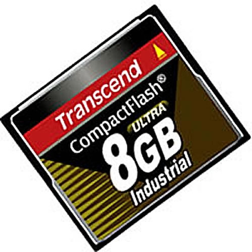 Transcend TS8GCF100I CCF 8GB 50p CF 100x Industrial Grade Compact Flash Card Clam RFB