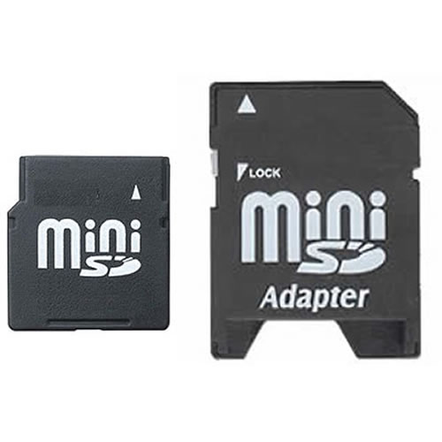 CCG 4GB MiniSD Mini Secure Digital Card with Adapter
