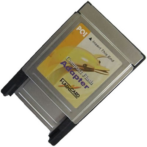 Gigaram PCMCIA-CF-LI 0MB PCMCIA (Type II) to CompactFlash (Type I) Adapter Bulk