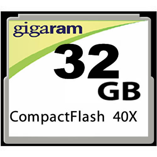 Gigaram  32GB CompactFlash Card 40-120x