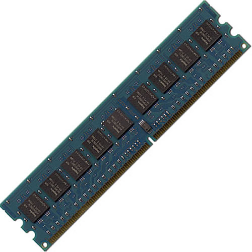 Micron MT8HTF12864AY-800G1 1GB 240p PC2-6400 CL6 8c 128x8 DDR2-800 1Rx8 1.8V UDIMM  w/hp label