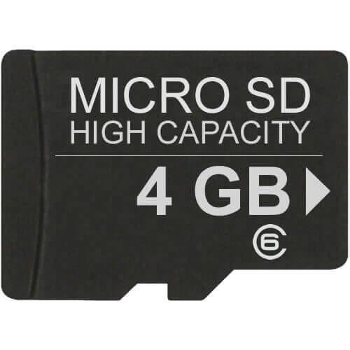 4GB 8p MSDHC Class 6 Micro Secure Digital High Capacity Card