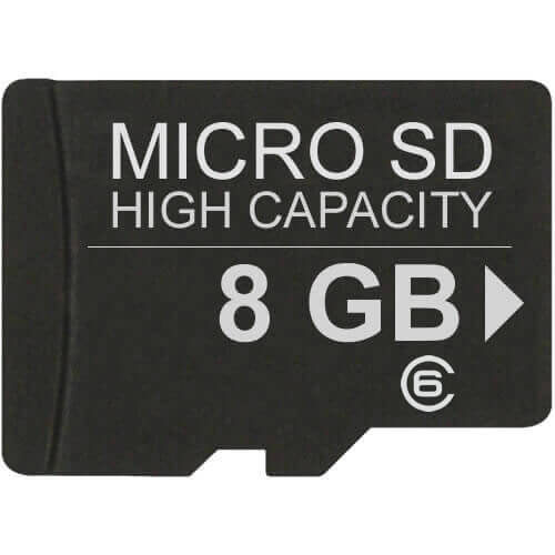 Gigaram  8GB 8p MSDHC Class 6 Micro Secure Digital High Capacity Card w/ Adapter