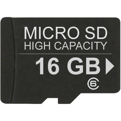 Gigaram  16GB 8p MSDHC Class 6 Micro Secure Digital High Capacity Card w/ Adapter