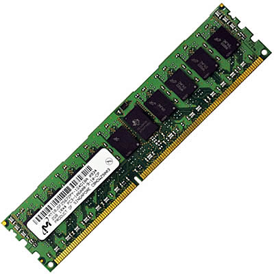 Gigaram CON 2GB 240pin DDR3 DIMM 256Mx72 ECC Registered gold leads Single Rank 1.5 volts PC3-10666 D