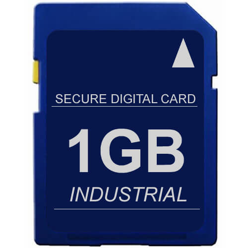 1GB 9p SD 100x Secure Digital Card Industrial Grade Clam