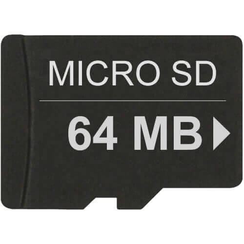 Gigaram TF64MB-MO CQP 64MB 8p Transflash MSD Micro Secure Digital Card w/o Adapter Bulk