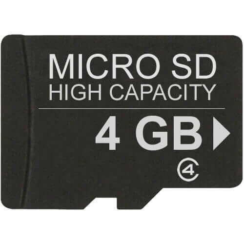 Sandisk SDSDQM-004G-Z35 4GB 8p MSDHC Class 4 Micro Secure Digital High Capacity Card w/o Adapter Ret