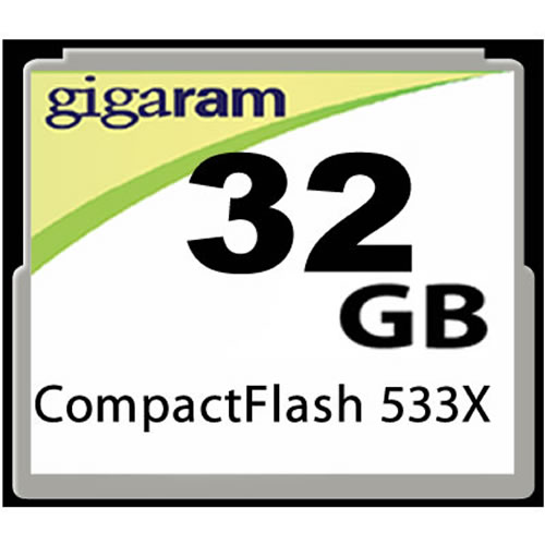Gigaram  32GB 50p CF 533x 80MB/s CompactFlash Card Clam