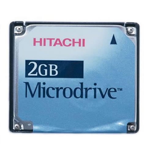 Gigaram  2GB CompactFlash Card Type II Microdrive