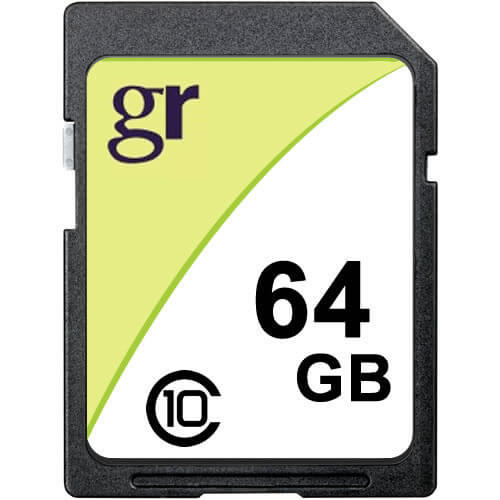 64GB 9p SDXC Class 10 Secure Digital Extended Capacity Card