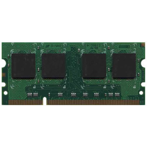 Gigaram CXA 2GB 200p PC2-5300 CL5 18c 128x8 DDR2-667 2Rx8 1.8V ECC Registered SODIMM