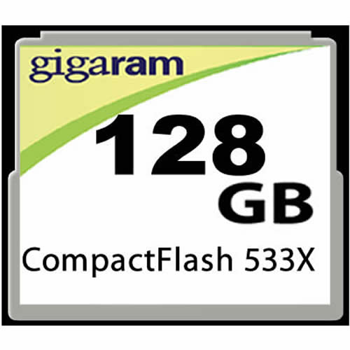 Gigaram  128GB 50p CF 533x 80MB/s CompactFlash Card