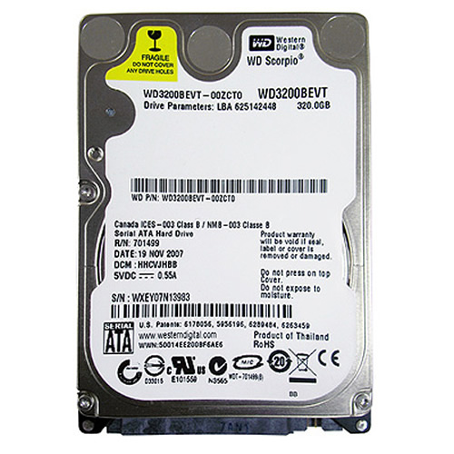 Ultralock HFG 320GB SATAII 5400RPM 2.5in x 9.5mm 15p 3.0Gb/s HDD