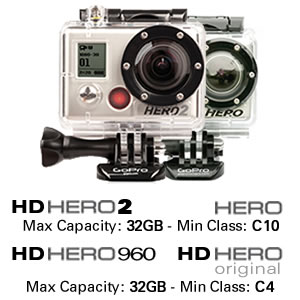 GoPro Cameras Hero2 and Hero