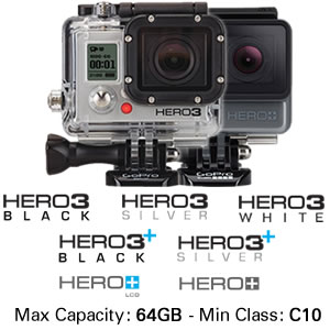 GoPro Cameras Hero3 and Hero+