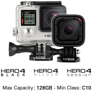 GoPro Cameras Hero4 and Hero4 Session