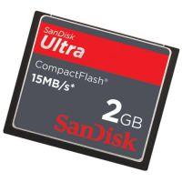 SanDisk 2GB Ultra SDCFH-002G CF Card 40X Bulk Refurbished