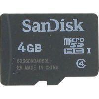 SanDisk 4GB SDSDQAB-004G microSDHC Memory Card C4 UHS-I Bulk
