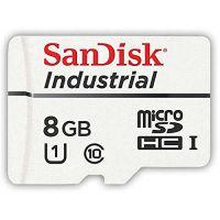 SanDisk 8GB Industrial MLC SDSDQAF3-008G-I microSDHC Memory Card C10 U1 UHS-I Bulk