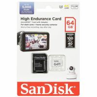 SanDisk 64GB High Endurance SDSQQNR-064G-GN6IA microSDXC Memory Card C10 U3 V30 UHS-I