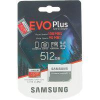 Samsung 512GB EVO Plus MB-MC512HA/EU microSDXC Memory Card C10 U3 UHS-I