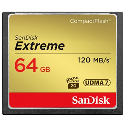 Sandisk 64GB Extreme S 120MB/s SDCFXSB-064G CF Compact Fl...
