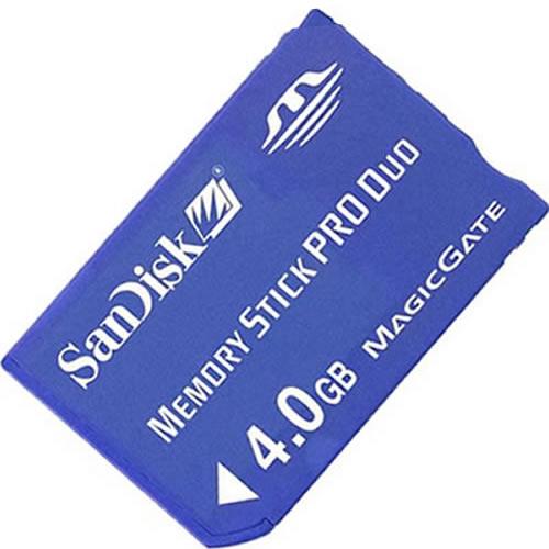 Sandisk 4GB Memory Stick Pro Duo SDMSPD-4096 or SDMSPD-004G