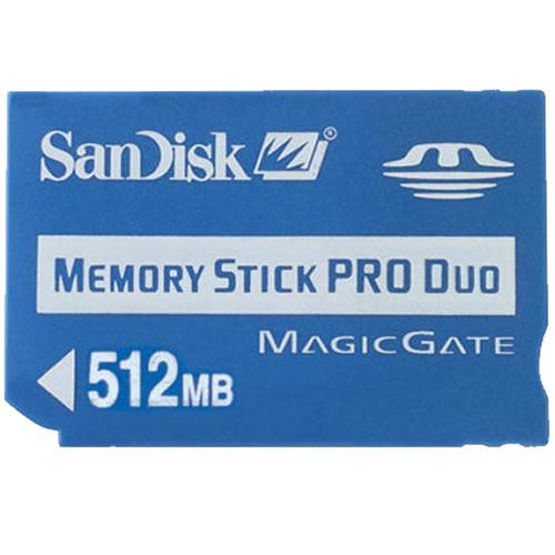 Sandisk 512MB Memory Stick Pro Duo SDMSPD-512