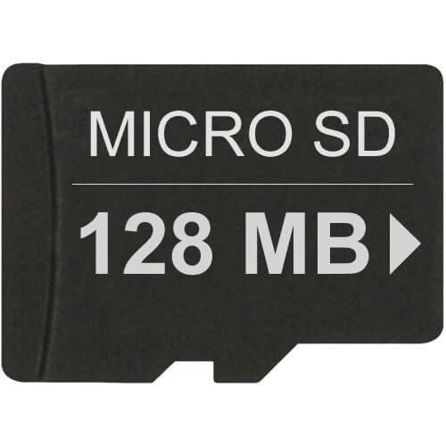 128mb microsd secure digital transflash card. Black Bedroom Furniture Sets. Home Design Ideas